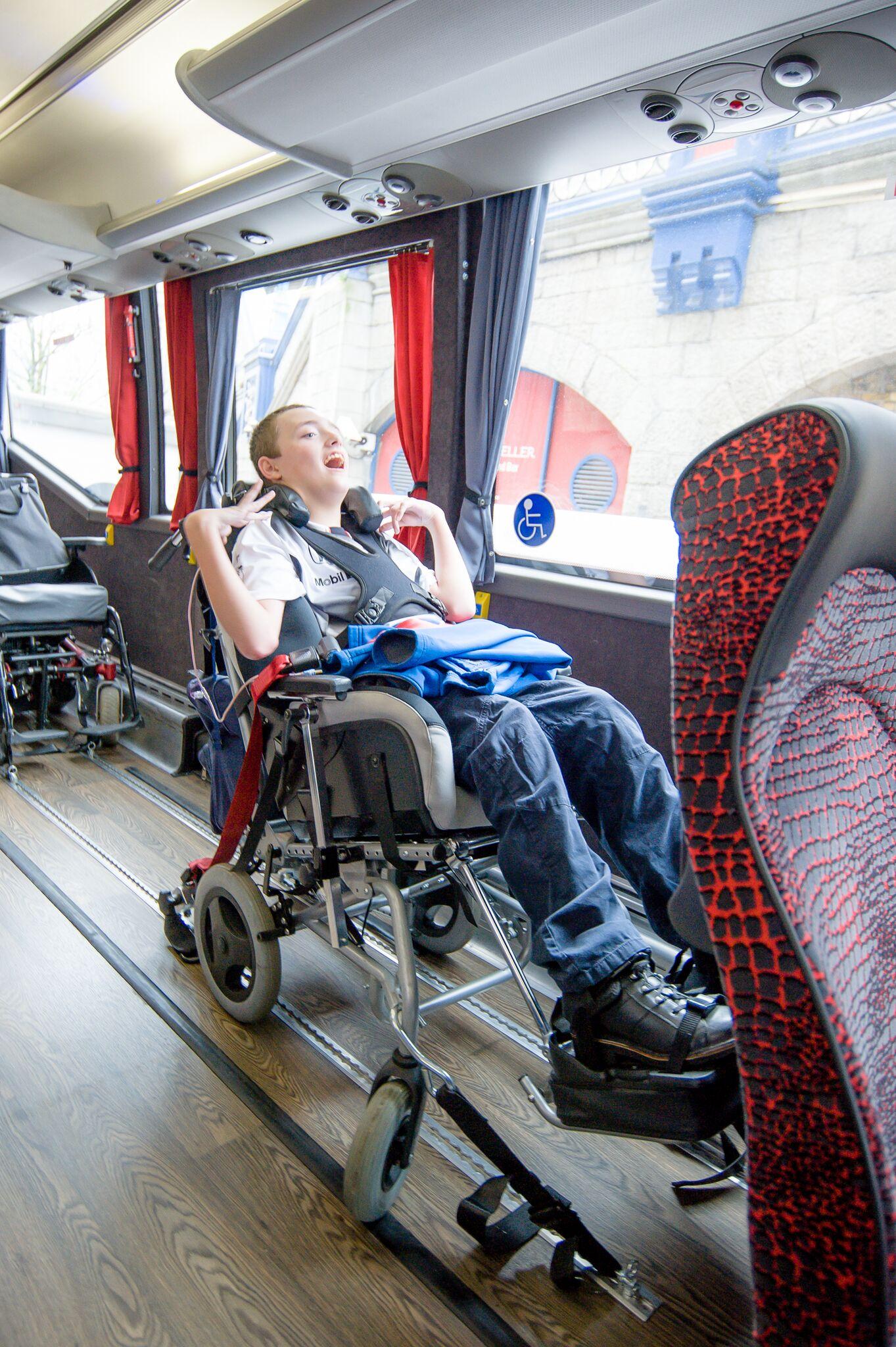 interior of an accessible coach