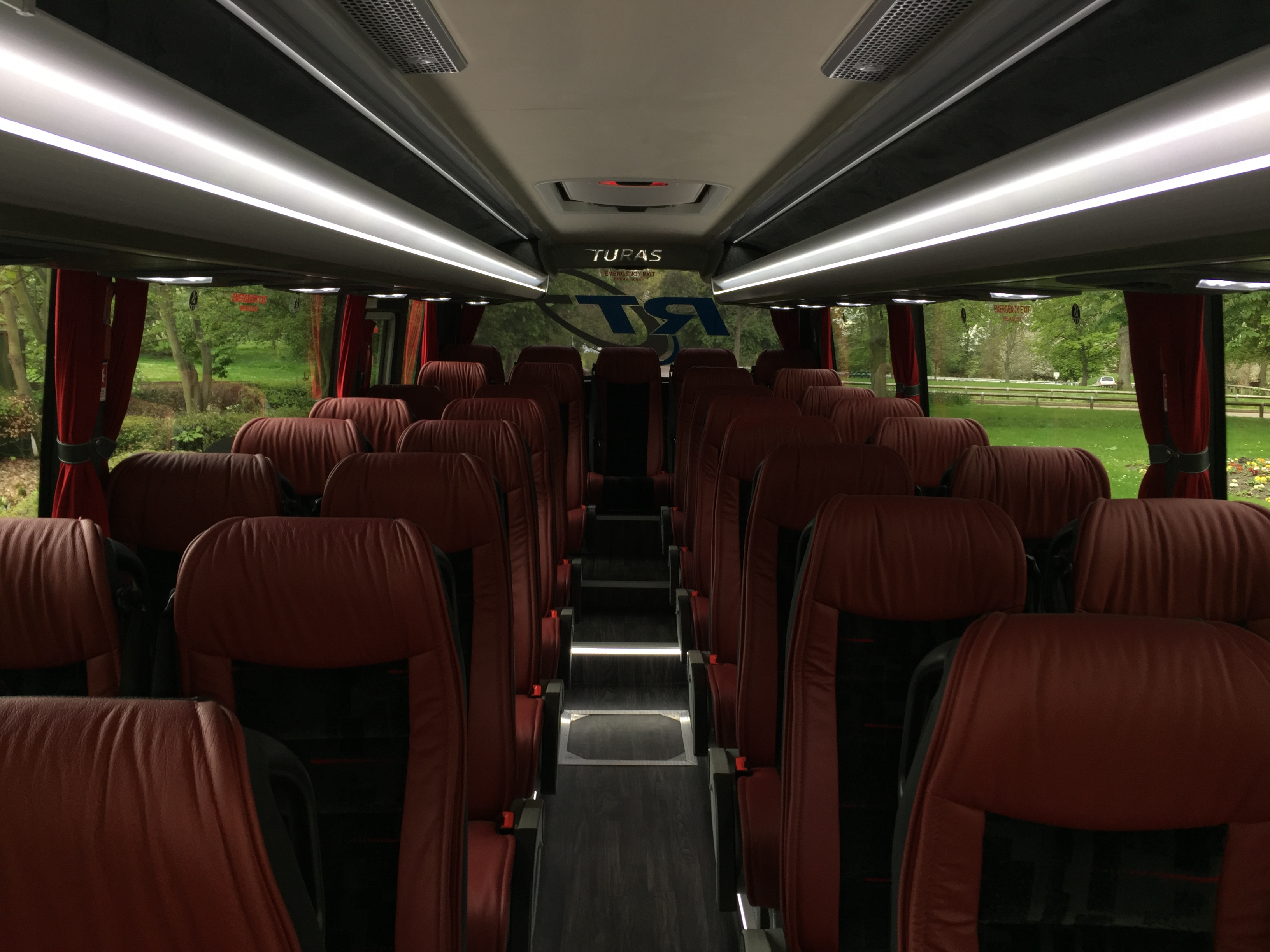 seats of a ross travel coach